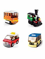 cheap -Building Blocks Educational Toy Construction Set Toys 214 pcs Vehicles Bus Cartoon compatible Plastic Shell Legoing Exquisite Hand-made Decompression Toys DIY Boys and Girls Toy Gift / Kid's
