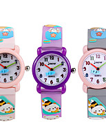 cheap -Kids Sport Watch Quartz Rubber 30 m Water Resistant / Waterproof Day Date Analog Cartoon Fashion - Purple Blushing Pink Gray One Year Battery Life