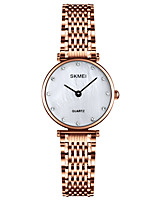 cheap -SKMEI Ladies Quartz Watches Classic Casual Silver Rose Gold Stainless Steel Chinese Quartz Rose Gold Silver Water Resistant / Waterproof New Design Shock Resistant 30 m 1 pc Analog One Year Battery
