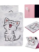 cheap -Case For Apple iPad Air / iPad 4/3/2 / iPad Mini 3/2/1 Wallet / Card Holder / with Stand Full Body Cases Cat PU Leather