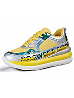 cheap -Women's Trainers / Athletic Shoes 2020 Summer Flat Heel Round Toe Sporty Athletic PU Walking Shoes Black / Yellow / Pink