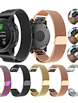 cheap -Milan Strap for Garmin Fenix 5 / Fenix 5 Plus Garmin Sport Band / Milanese Loop / Modern Buckle Stainless Steel Wrist Quick Release Band for Garmin Fenix 6 / Fenix 6 Pro