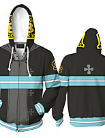 cheap -Inspired by Fire Force Cosplay Costume Hoodie Polyster Print Printing Hoodie For Men's / Women's