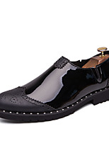 cheap -Men's Summer / Fall Business / Classic Daily Office & Career Loafers & Slip-Ons Faux Leather Non-slipping Wear Proof Black / Gold / Silver Color Block