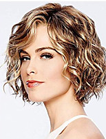 cheap -Synthetic Wig Curly Hathaway Layered Haircut Wig Short Chocolate Synthetic Hair 12 inch Women's Women Synthetic Sexy Lady Dark Brown Gold Blonde Ombre hairjoy