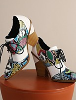 cheap -Women's Heels Summer Cuban Heel Pointed Toe Daily PU Black / Green / Brown