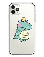 cheap -Case For Apple iPhone 11/11 Pro/11 Pro Max/XS/XR/XS Max/8 Plus/7 Plus/6S Plus/8/7/6/6s/SE/5/5S Transparent Pattern Back Cover Crocodile Soft TPU