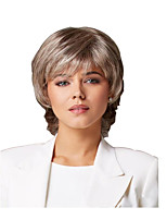 cheap -Synthetic Wig Curly Matte Layered Haircut Wig Short Light golden Synthetic Hair 6 inch Women's Easy dressing Best Quality Fluffy Blonde