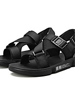 cheap -Men's Summer Classic / British Daily Outdoor Sandals Walking Shoes Canvas / Cotton Breathable Wear Proof White / Black