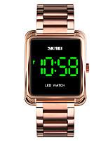 Недорогие -SKMEI Муж. электронные часы Цифровой Формальный Современный Нержавеющая сталь Черный / Серебристый металл / Золотистый 30 m Защита от влаги Календарь Светодиодная лампа Цифровой На каждый день Мода -