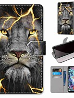 cheap -Case For LG Q70 / LG K50S / LG K40S Wallet / Card Holder / with Stand Full Body Cases Fission Lion PU Leather / TPU for LG K30 2019 / LG K20 2019