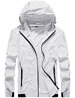 cheap -Men's Hiking Skin Jacket Hiking Jacket Summer Outdoor Windproof Sunscreen Breathable Quick Dry Jacket Top Elastane Single Slider Running Hunting Fishing White / Grey / Blue / Ultraviolet Resistant