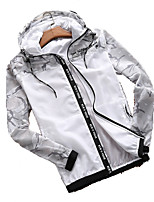 cheap -Men's Hiking Skin Jacket Hiking Jacket Summer Outdoor Camo Waterproof Sunscreen Breathable Quick Dry Jacket Hoodie Top Running Hunting Fishing White / Army Green / Royal Blue