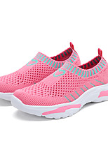 cheap -Girls' Comfort Knit Trainers / Athletic Shoes Big Kids(7years +) Walking Shoes Split Joint Black / Fuchsia / Pink Spring / Summer