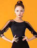 cheap -Ballroom Dance Top Lace Ruching Women's Performance 3/4 Length Sleeve Ice Silk