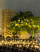 cheap -5M 200Leds Copper Wire LED Flexible String Lights Firecracker Fairy Garland Lights for Christmas Window Wedding Party Warm White Home Decor AA Battery Operated (come without battery)
