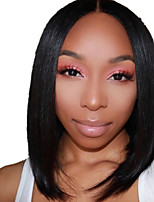 cheap -Synthetic Wig kinky Straight Middle Part Wig Short Light Brown Natural Black Synthetic Hair 12 inch Women's Fashionable Design Life Women Black Light Brown