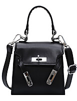 cheap -Women's Polyester / PU Top Handle Bag Leather Bags Solid Color Black / Khaki / Green / Fall & Winter