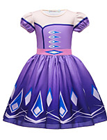 cheap -Frozen Princess Dress Girls' Movie Cosplay Halloween Christmas Purple / Blue Dress Christmas Halloween