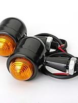 cheap -4pcs Black Amber Lens Mini Bullet Bulb Turn Signal Black Front Rear Light For Harley