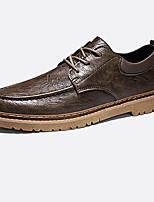 Недорогие -Муж. Лето На каждый день Повседневные Туфли на шнуровке Полиуретан Нескользкий Черный / Хаки / Коричневый