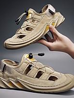 cheap -Men's Summer Outdoor Sandals PU Non-slipping Khaki / Gray