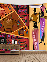 cheap -African Aoman Digital Printed Tapestry Decor Wall Art Tablecloths Bedspread Picnic Blanket Beach Throw Tapestries Colorful Bedroom Hall Dorm Living Room Hanging