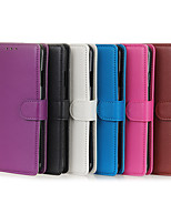cheap -Case For OPPO OPPO Reno3 Card Holder / Shockproof Full Body Cases Solid Colored PU Leather