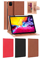 cheap -Case For Apple iPad Pro 11'' Card Holder / Shockproof Full Body Cases Solid Colored PU Leather
