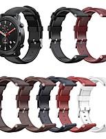 Недорогие -ремешок наручные ремешок из кожи в стиле ретро для huami amazfit stratos 3 / stratos 2 2s / гтп 47мм / темп часы сменный браслет браслет