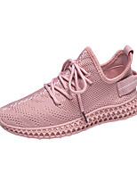 cheap -Women's Trainers / Athletic Shoes 2020 Fall Flat Heel Round Toe Sporty Casual Daily Outdoor Solid Colored Tissage Volant Running Shoes / Walking Shoes White / Black / Pink