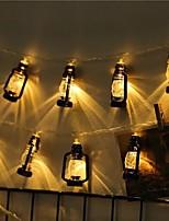 Недорогие -1,5 м Гирлянды 10 светодиоды 1шт Тёплый белый Хэллоуин / Рождество Для вечеринок / Декоративная / Новогоднее украшение для свадьбы Аккумуляторы AA