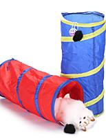 Недорогие -туннели Собаки Коты Маленькие зверьки Животные Игрушки 1шт Подходит для домашних животных Портативные Складной UltraLight Полиэстер Подарок