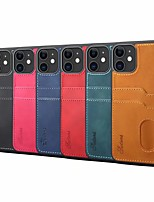 cheap -Case For Apple iPhone 11 / iPhone 11 Pro / iPhone 11 Pro Max Card Holder / Shockproof Back Cover Solid Colored PU Leather / TPU