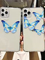 cheap -Apple Case For iPhone7 8 7plus 8plus  XR XS XSMAX  X SE 11 11Pro 11ProMax Transparent Pattern Back Cover Butterfly TPU