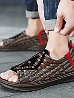 cheap -Men's Summer Casual Outdoor Sandals Microfiber Non-slipping Black / Brown / Gray
