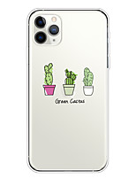 cheap -Case For Apple iPhone 11/11 Pro/11 Pro Max/XS/XR/XS Max/8 Plus/7 Plus/6S Plus/8/7/6/6s/SE/5/5S Transparent Pattern Back Cover Cactus Soft TPU