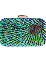 cheap -Women's Embroidery / Chain Polyester Evening Bag Embroidery Blue / Black