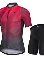Недорогие -Nuckily Муж. С короткими рукавами Велокофты и велошорты Черный / красный Градиент Велоспорт Виды спорта Градиент Шоссейные велосипеды Одежда