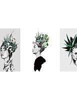 Недорогие -печать рулонных отпечатков на холсте растянутые отпечатки на холсте - ботанические цветочные / ботанические старинные картины современного искусства