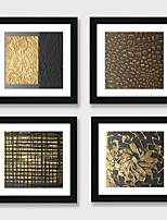 cheap -Framed Art Print Framed Set 4 - Abstract Aureate Sofa Setting Wall Art Ready to Hangs