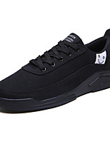 cheap -Men's Summer Casual Daily Sneakers Canvas / Linen Non-slipping Black / Beige / Gray