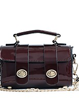 cheap -Women's PU Top Handle Bag Solid Color Wine / Red / Green