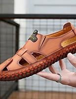 cheap -Men's Summer Outdoor Sandals PU Non-slipping Dark Brown / Black / Brown
