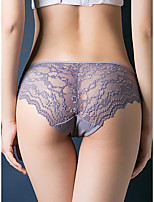 cheap -Women's Lace / Basic Brief - Normal Low Waist Purple Blushing Pink Red One-Size
