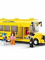 cheap -Building Blocks Educational Toy 219 pcs Bus Cartoon compatible Plastic Shell Legoing School Hand-made Decompression Toys DIY Boys and Girls Toy Gift / Kid's