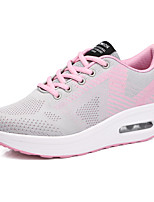 cheap -Women's Trainers / Athletic Shoes Spring &  Fall / Spring Wedge Heel Round Toe Casual Daily Solid Colored Braided Tissage Volant Walking Shoes Purple / Fuchsia / Gray