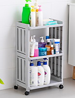 cheap -Hollow Fence Bathroom Shelf Multi-layer Toilet Bathroom Kitchen Storage Shelf With Wheel Storage Shelf