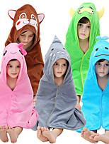 cheap -Kid's Kigurumi Pajamas Bathrobe Oodie Monkey Onesie Pajamas Flannel Fabric Pink / Green / Blue Cosplay For Boys and Girls Animal Sleepwear Cartoon Festival / Holiday Costumes / Bath Robe / Bath Robe