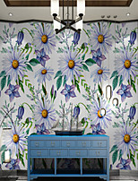 cheap -Art Deco / Cartoon / Landscape Home Decoration Modern Wall Covering, Canvas Material Adhesive required Wallpaper / Mural / Wall Cloth, Room Wallcovering